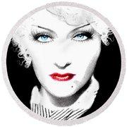 Gloria Swanson - Marlene Dietrich Round Beach Towel