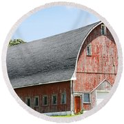 Glorious Barn Round Beach Towel