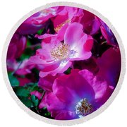 Glorious Blooms Round Beach Towel