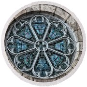 Glorious Church Stained Glass Round Beach Towel