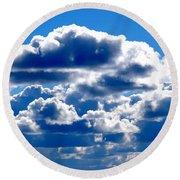 Glorious Clouds II Round Beach Towel
