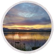 Glorious Morning In Donegal Round Beach Towel