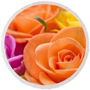 Glorious Roses Round Beach Towel