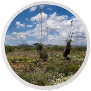 Glorious Spring In The Desert Round Beach Towel