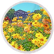 Glorious Yellow And The Franklin Round Beach Towel