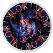 Glory 2 Round Beach Towel