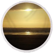 Glory At Ocean Shores Round Beach Towel