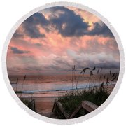 Glory Of Dawn Round Beach Towel