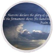Glory To God   Psalm 10 1 Round Beach Towel