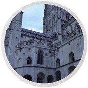 Gloucester Cathedral 2 Round Beach Towel