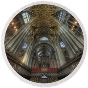 Gloucester Cathedral 2.0 Round Beach Towel