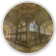 Gloucester Cathedral Cloisters Round Beach Towel
