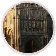 Gloucester Cathedral Entrance Round Beach Towel