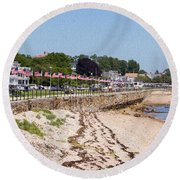 Gloucester In July Round Beach Towel
