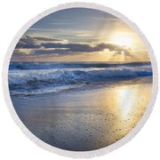 Glow Round Beach Towel
