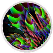 Glow In The Dark Abstract Round Beach Towel