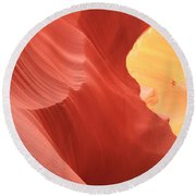 Glow Under The Desert Floor Round Beach Towel