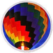 Glowing At Dusk Round Beach Towel