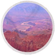 Glowing Colors Of The Grand Canyon Round Beach Towel