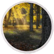 Glowing Maples Square Round Beach Towel