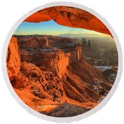 Glowing Photo Frame Round Beach Towel