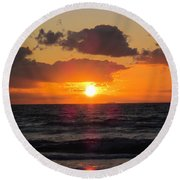 Glowing Sunrise Round Beach Towel