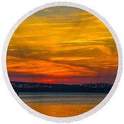 Glowing With Color Round Beach Towel