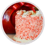 Gluten Free Peppermint Cake Round Beach Towel