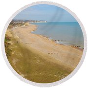 Glyne Gap Scenic In Sussex Round Beach Towel