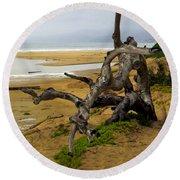 Gnarly Tree Round Beach Towel