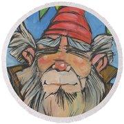 Gnome 2 Round Beach Towel