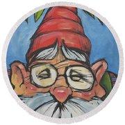 Gnome 6 Round Beach Towel