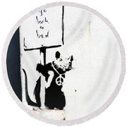 Go Back To Bed Protester Round Beach Towel