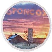Go Broncos Colorado Country Round Beach Towel