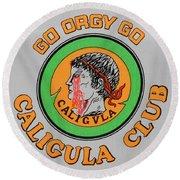 Go Caligula Go Round Beach Towel