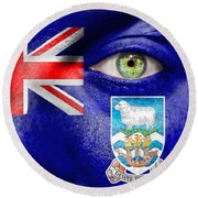 Go Falkland Islands Round Beach Towel
