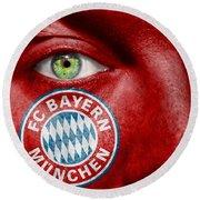 Go Fc Bayern Munchen Round Beach Towel