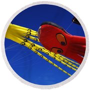 Go Fly A Kite 6 Round Beach Towel