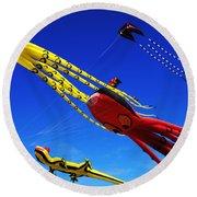 Go Fly A Kite 7 Round Beach Towel