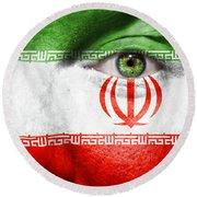 Go Iran Round Beach Towel