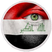 Go Iraq Round Beach Towel