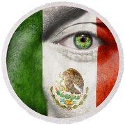 Go Mexico Round Beach Towel