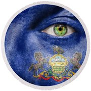 Go Pennsylvania Round Beach Towel by Semmick Photo