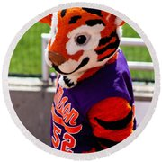 Go Tigers Fight Round Beach Towel