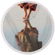 Goa Reflections  Round Beach Towel