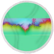 Goan Skyline Round Beach Towel