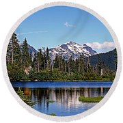 Goat Mountain Round Beach Towel