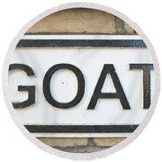 Goat Round Beach Towel by Tom Gowanlock
