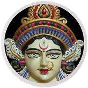 Goddess Durga Round Beach Towel by Sayali Mahajan