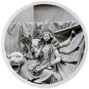 Goddess Durga Round Beach Towel by Shaun Higson